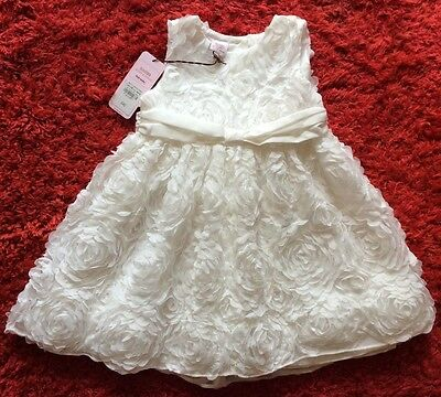Ted Baker .. Ivory Baby Dress .. Christening / Wedding / Party .. 18-24 Mt Bnwt