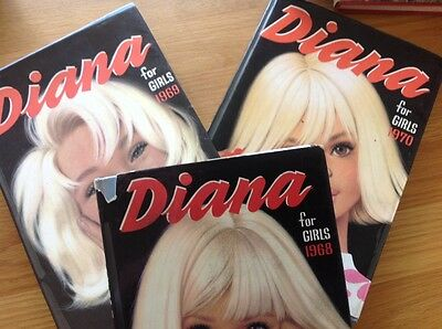 Diana vintage annuals 1968, 1969 and 1970