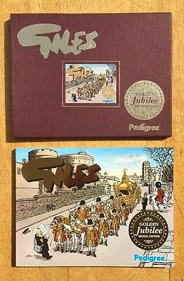 Book Pastimes Giles Golden Jubilee Edition With Embossed Slip Case Pedigree