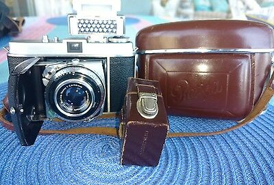 Kodak Retina I B 35Mm With Flash & Case Clean Works