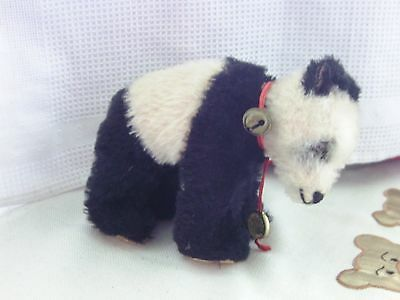 alter Hermann Teddy Panda mit Plakette