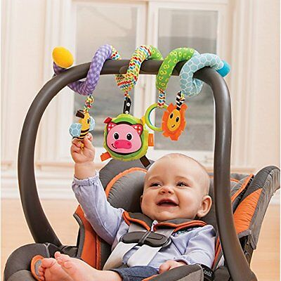 Baby Activity Toy By Infantino - Spiral For Car Seat & Stroller Having Fun, Blue