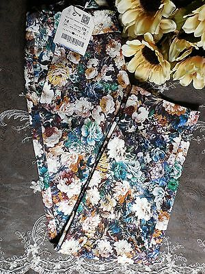 Zara Girls  Floral Adjustable Waist Skinny Pants Child's Size 7/8 New with Tags