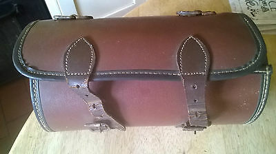 Vintage Bowl Bag Brown Leather Steam Punk Bag, Project