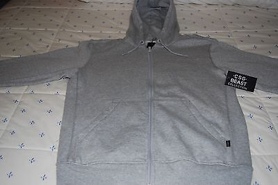 Champs Sports CSG Men's Gray Sweatshirt Full-Zip Hoodie Size L Large Heavyweight