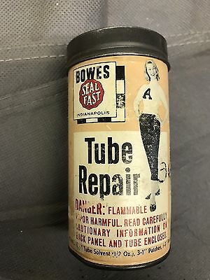 Bowes Tube Repair Kit Vintage Gas And Oil Can.