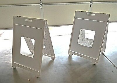 24x35 Sidewalk Sign Signcade Commercial Plastic Board Sign - Set of 2