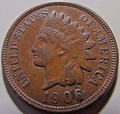 Nicer...1906 Indian Head Cent***Better EF+ To AU Details***Full Liberty