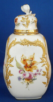 Superb KPM Berlin Porcelain Neuzierat Tea Caddy / Jar Porzellan Teedose Dose