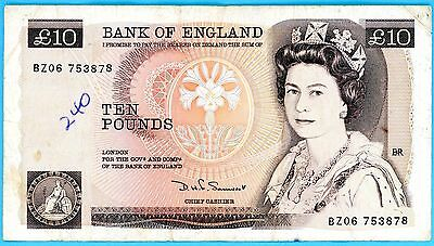 wc111: England, Bank of,  Ten Pounds 1980