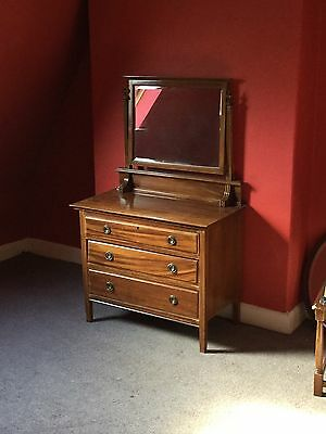 Edwardian Chesnut Dressing Table For Repair