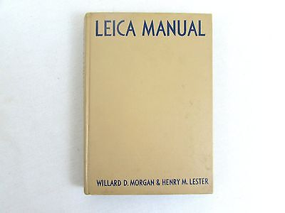 Leica Manual By Morgan & Lester 1953 Hardcover 12th Edition Vintage Camera