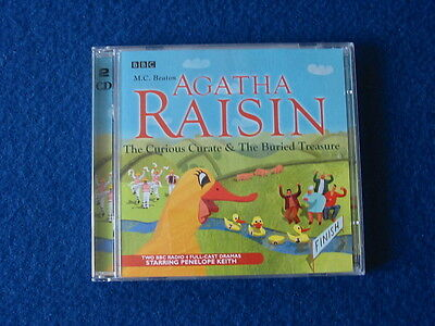 AGATHA RAISIN AND THE CURIOUS CURATE + 1 by M.C.BEATON - AUDIO  BOOK on 2 CD's