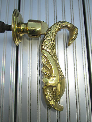 Old Solid Brass Dolphin fish door knocker