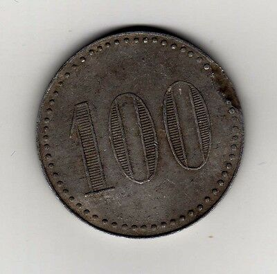 "Argentina maverick token: ""100"" in a circle of dots"
