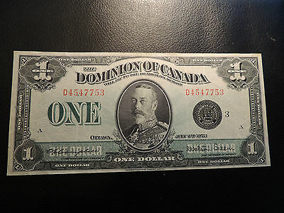 1923 DOMINION OF CANADA $1 ONE DOLLAR D 4547753 BLACK SEAL GROUP 3 DC-25n