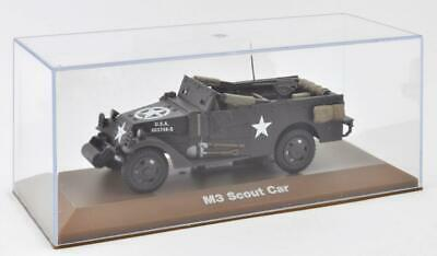 M3 SCOUT CAR Maßstab 1:43 Fertigmodell aus Metall in Displayvitrine