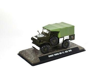 Dodge Truck WC 51 USA 1945 1:43 Fertigmodell aus Metall in Displayvitrine