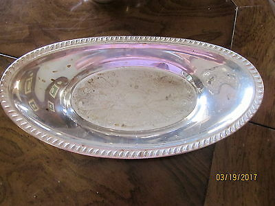 Vintage F.b. Rogers Silver Plate Oval Bread Tray -