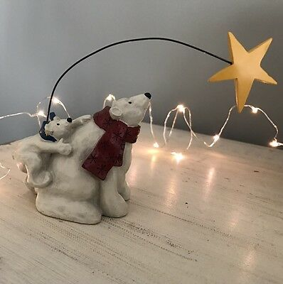Polar Bears Wishing On A Star Figurine  Stampin' Up! 2002 Exclusive