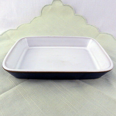 """IMPERIAL BLUE by DENBY COVERED BUTTER BASE 6.75"""" long NEW NEVER USED England"""