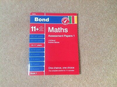Bond 11+ Maths Assessment Papers Book 1 by Andrew Baines, J. M. Bond