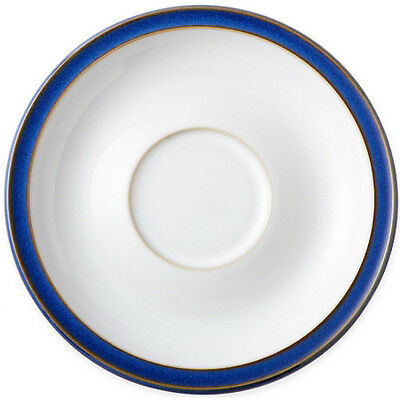 "IMPERIAL BLUE by DENBY Saucer White 6.25"" diameter NEW NEVER USED made England"
