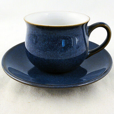 IMPERIAL BLUE by DENBY After Dinner Cup & Saucer NEW NEVER USED made in England