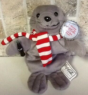 COCA COLA Bean Bag Plush Seal W/Scarf 1997 New w/Tag Style #0101