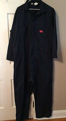 Dickies Navy Blue Jumpsuit Coveralls Mechanic Industrial Wear 50/52 Reg 2XL