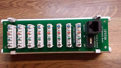 Leviton 47609-TSV Structured Media Telephone Security Module 1x7 Board