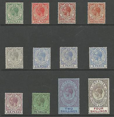 Gibraltar Sg89-100 The 1921-7 Gv Set To 4/- M0Unted Mint Cat £128