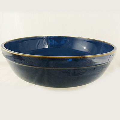 """IMPERIAL BLUE by DENBY BOWL ROUND LARGE 12"""" Diameter NEW NEVER USED England"""