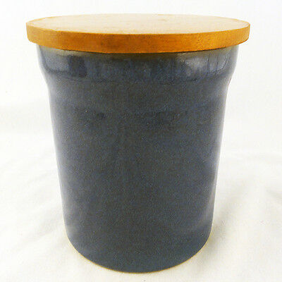"IMPERIAL BLUE by DENBY Canister 5.75"" tall NEW NEVER USED made in England"
