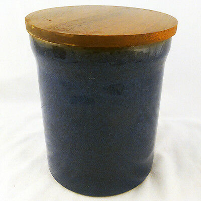"IMPERIAL BLUE by DENBY Canister 6.5"" tall NEW NEVER USED made in England"