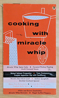 Vintage Cooking with Miracle Whip Recipe Booklet Kraft