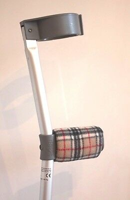 Padded Handle Comfy Crutch Covers/pads - Burberry Coloured Tartan