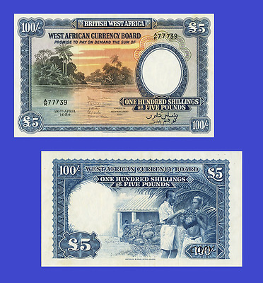 British West Africa 100 schillings 1953. UNC - Reproduction