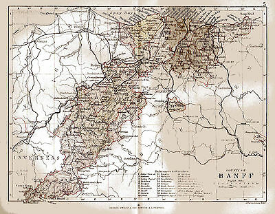 Map of County of Banff, Scotland.
