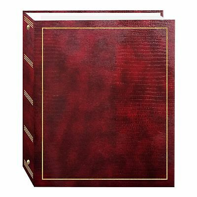 Magnetic Self-Stick 3-Ring Photo Album 100 Pages (50 Sheets) Burgundy Red