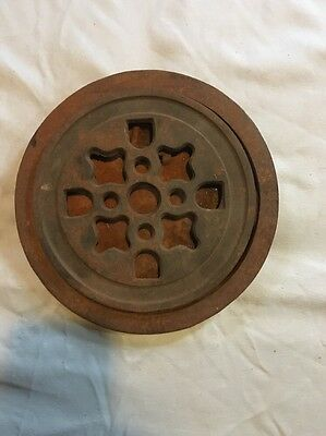 Vintage Collectible Ornate Cast Iron Wood Burning Stove Top Plate