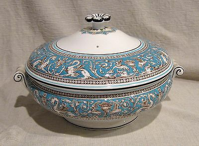 Wedgwood Florentine Turquoise Covered Serving Bowl