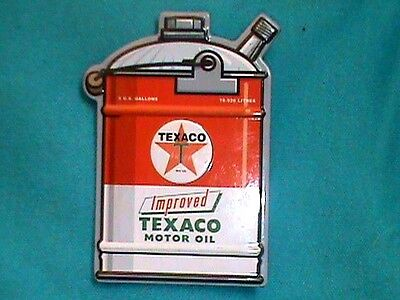 "Magnet RED TEXACO MOTOR OIL CAN  2"" x 3 ""  Decorating, Man Cave, Garage"