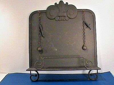 Music Table Top Stand Antique  W/ Ball Chains Paper Holder