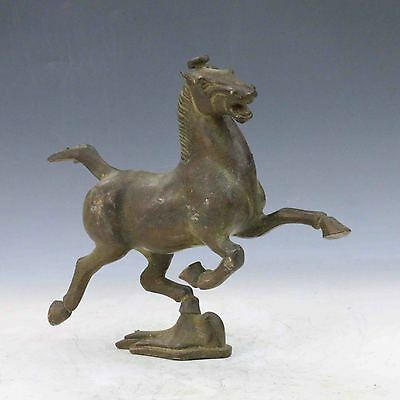 Old Chinese Bronze Hand Carved Horse Riding Chebi Statue  M0072