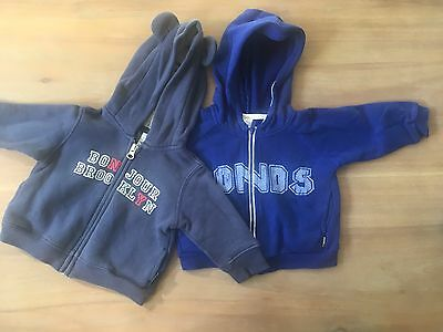 Baby Boy BONDS and FRED Hoodies Size 00