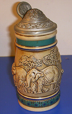 Avon Products Mini Stein Endangered Species Series Asian Elephant 42473 1990