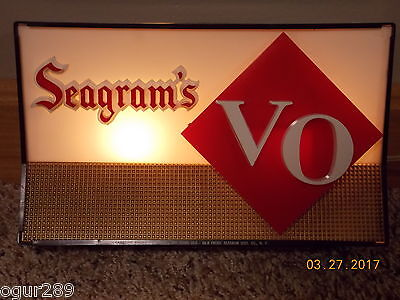 Seagram's VO Lighted Bar Sign