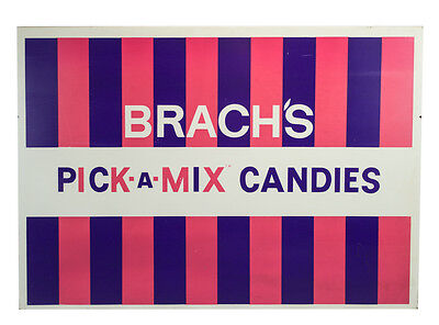 Vintage Brach's Pick-a-Mix Candy Store Metal Sign 41""