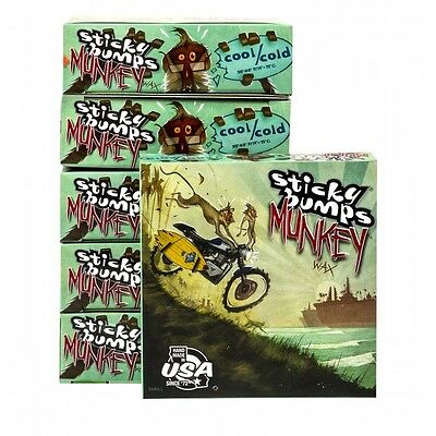 STICKY BUMPS MUNKEY - BOXED WAX  Surfboard Wax 6 Pack 5times stickier  cool/cold
